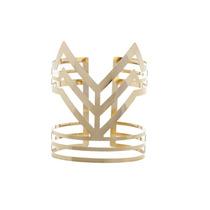 Bracelete Regulável Triangular Dourado