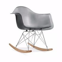 Cadeira Charles Eames Rar De Balanço Transparente E Colorida