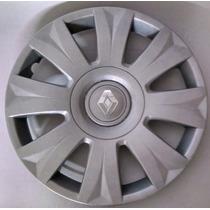 Calota Jogo 4pçs Sandero Logan Symbol Aro15 Renault P458j