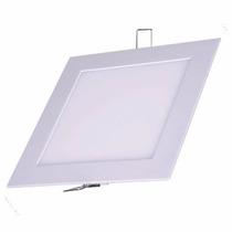 Plafon Led 24w Embutir Quadrado Branco Frio Luminária 30x30