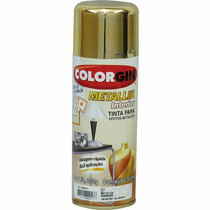 Tinta Spray Colorgin Metálico Dourado 350ml - Cx/6