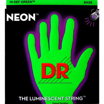 Encordoamento Dr Strings Neon Green Baixo 5 Cordas 40/120 **