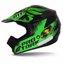 Capacete Cross Pro Tork Th-1 Insane 5 Preto E Verde Brilhant