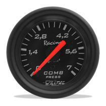 Pressão Combustível Manômetro Willtec Preto 7 Kg 52mm