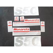 Jogo De Faixa Mobilete Monark S-50 (monareta)