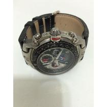 Relógio Masculino Orient Flytech, Pulseira De Couro Original