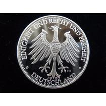 20 G Prata 999 Proof Moeda 1990 Alemanha Muro Berlin C/ Cert