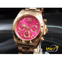 Invicta Feminino Speedway Orig 16657 - Banh Ouro Rose - Pink