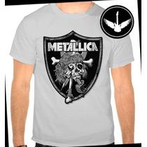 Camiseta Metallica Baby Look Banda Rock Camisa Adulto Infant