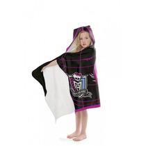 Toalha Felpuda Estampada Com Capuz Monster High. Promoção