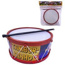 Tamborzinho Infantil Brinquedo Musical Kit C/ 12