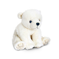 Bicho De Pelúcia Urso-polar - Keel Toys 25cm De Assento Bra