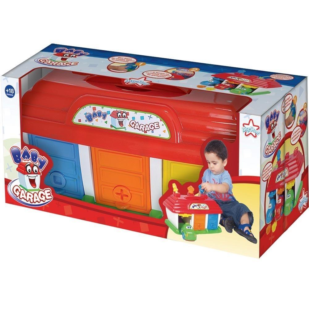 3 Carrinhos Com Garagem Baby Garage Brinquedo Bebe Big