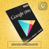 Cartão Play Store Google Gift Card R$ 30 Reais Android