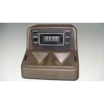 Console Teto Luz/relogio Del Rey Marron Original Ford