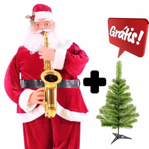 Comprar Papai Noel Musical Dança Toca Sax 130 M árvore Grátis 8
