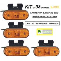 Lanterna Lateral Led Caminhão Carreta Reboque (kit 08 Unid)