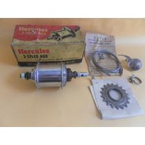 Hercules Kit Marchas Completo Original Zero Bicicleta Antiga