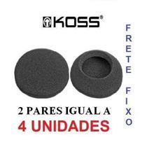 Espumas Para Reposição Fone Kos S Porta Pro Com 4 Und Id1983