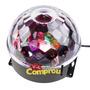 Bola Maluca Led Rgb Holográfico 20w Dmx 8ch Cystall Ball