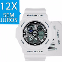 Relogio G-shock Ga-300-7adr Branco A Prova Dágua 200 Metros