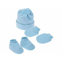 Kit Recem Nascido Masculino Pimpolho Luva+gorro+sapatinho