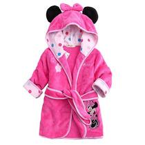 Roupão Minnie Microfibra Piscina Infantil Cobertor Banho