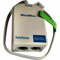 Micro Filtro Adsl Duplo - Pacote Com 3 Unidades