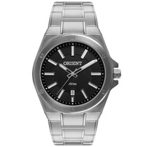 Relógio Orient Analógico, Pulseira De Aço - Mbss1245 P1sx