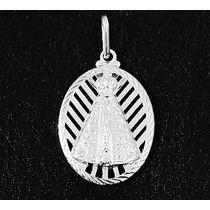 Medalha De Prata Pura 990 - Imagem Nossa Senhora Aparecida