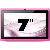 Tablet Android 4.4, Wi-fi, Câmera Vga, Tela De 7 , Rosa