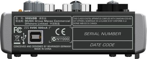 302usb Mesa De Som Behringer Xenyx 302 Usb C/ Phantom +fonte