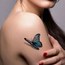 Tatuagem Temporária 3d Grande Muito Real Varios Modelos