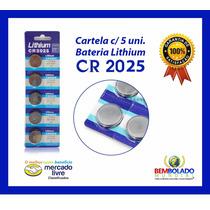 Bateria Lithium Cr2025 Botão Indi P/ Controle Calculadora +