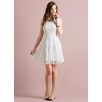 Vestido Plus Size De Renda Branco - G Gg Xxg Xlg