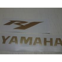Moto Yamaha R1 Par De Adesivo R1 Ou Par Yamaha Carenagem