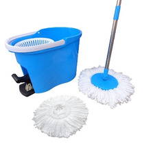 Kit Spin Mop De Limpeza Com Esfregao E Balde Com Pedal