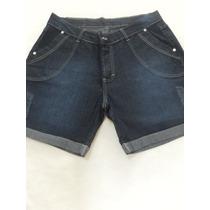Shorts Jeans Feminino Com Lycra Perfeito Da Moda