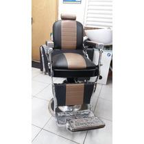 Cadeira De Barbeiro Anos 50 Restaurada