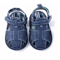 Sapato Bebê Sapatinho Jeans Criança Infantil Sandália Chinel