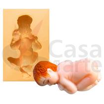 Molde De Silicone Para Biscuit Casa Da Arte - Modelo: Bebê