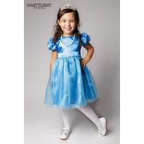 Vestido De Festa Casamento Dama Formatura Infantil Azul