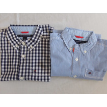 Camisa Tommy Hilfiger Infantil Masculina Original / Etiqueta