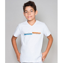 Camiseta Infantil Gola V Paco Kids - Branca