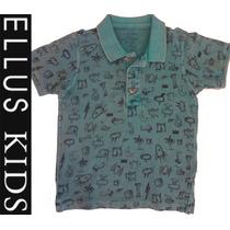 Camiseta Polo Ellus Kids Manga Curta - Monstros