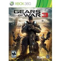 Jogo Xbox 360 Gears Of War 3 Original E Lacrado
