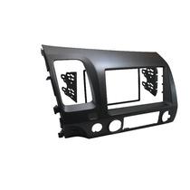 Moldura Painel Dvd 2 Din Honda New Civic Grafite + Fixação