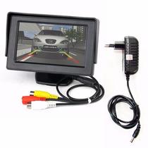 Tela Monitor Portátil Veicular 4.3 Vídeo Lcd + Fonte 12v K39