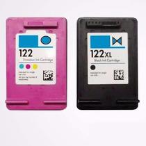 Kit Cartucho Compátivel Hp 122xl Black + 122xl Color +brinde