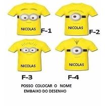 Camiseta Minions Aniversario Infantil 100% Algodão